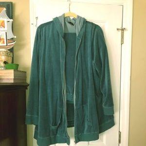Jogging Suit Velour Jacket with Hood